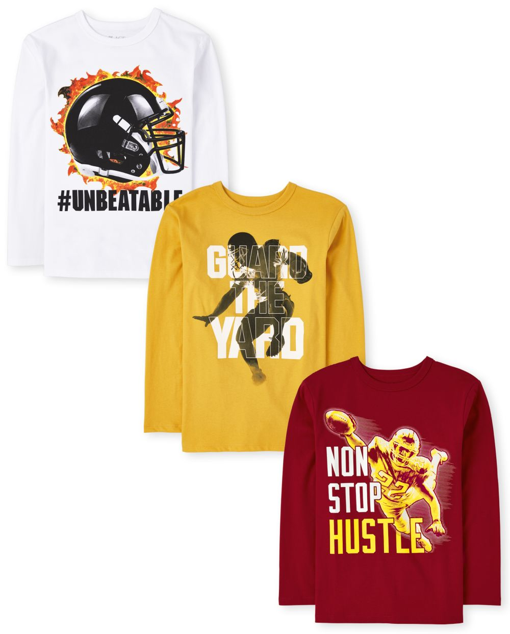 Boys Football Graphic Tee 3-Pack - Multi T-Shirt