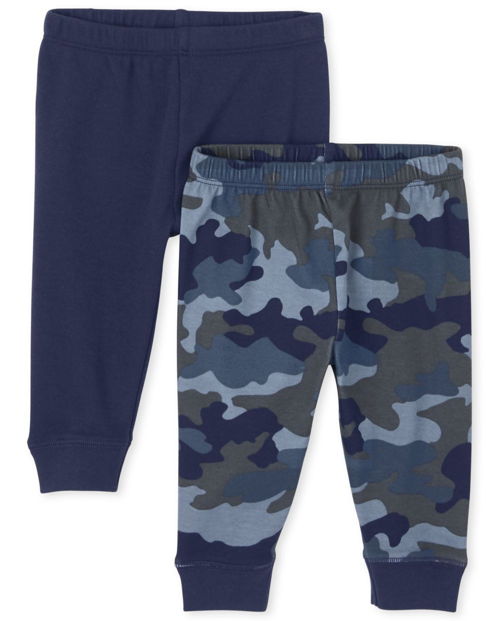 Newborn Baby Boys Camo Pants 2-Pack - Blue