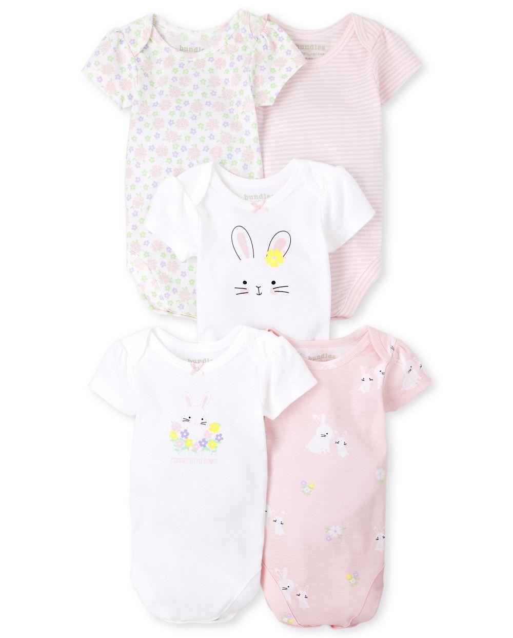 Baby Easter Bodysuit 5-Pack - White