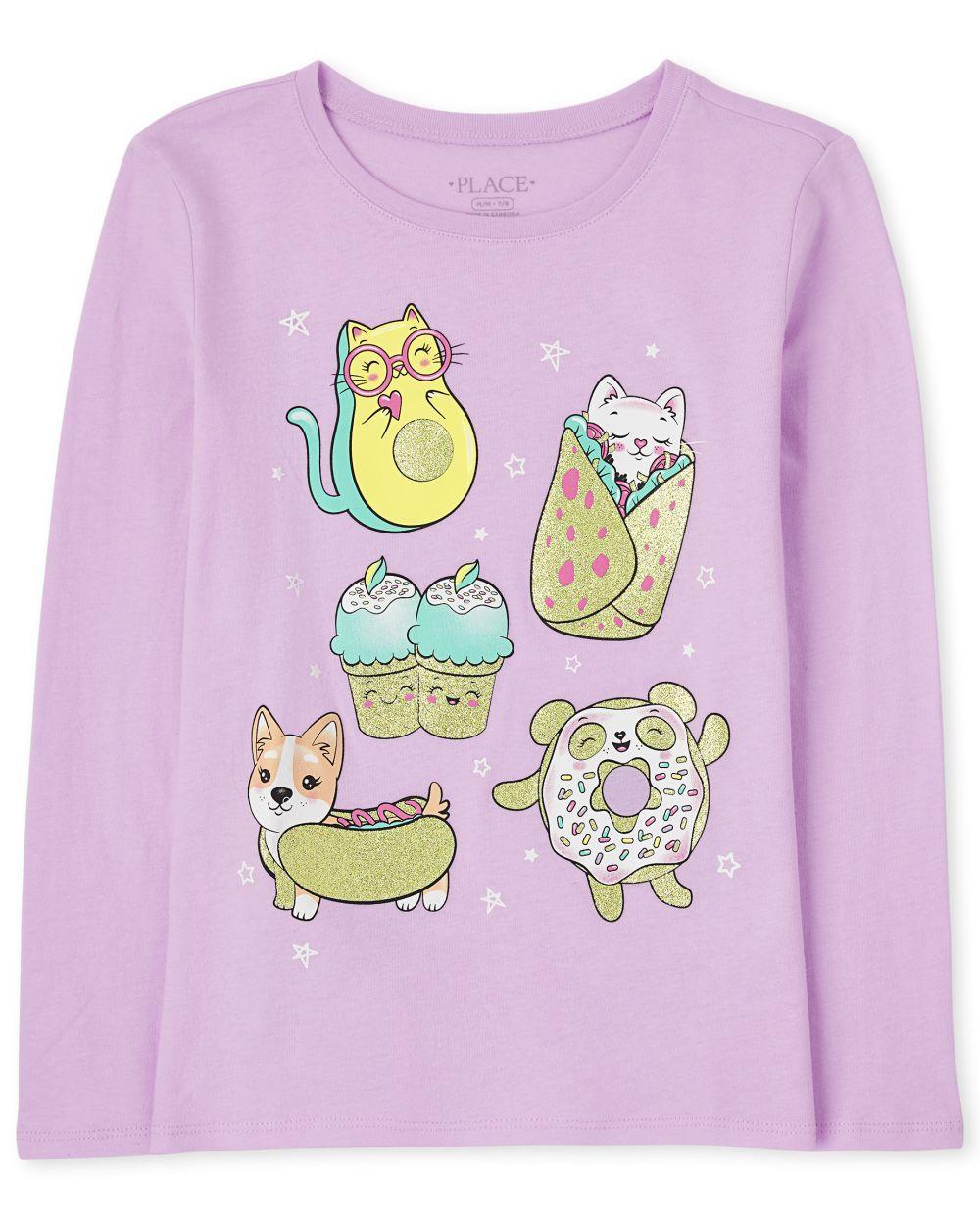 Food Squishies Graphic Tee - Purple T-Shirt