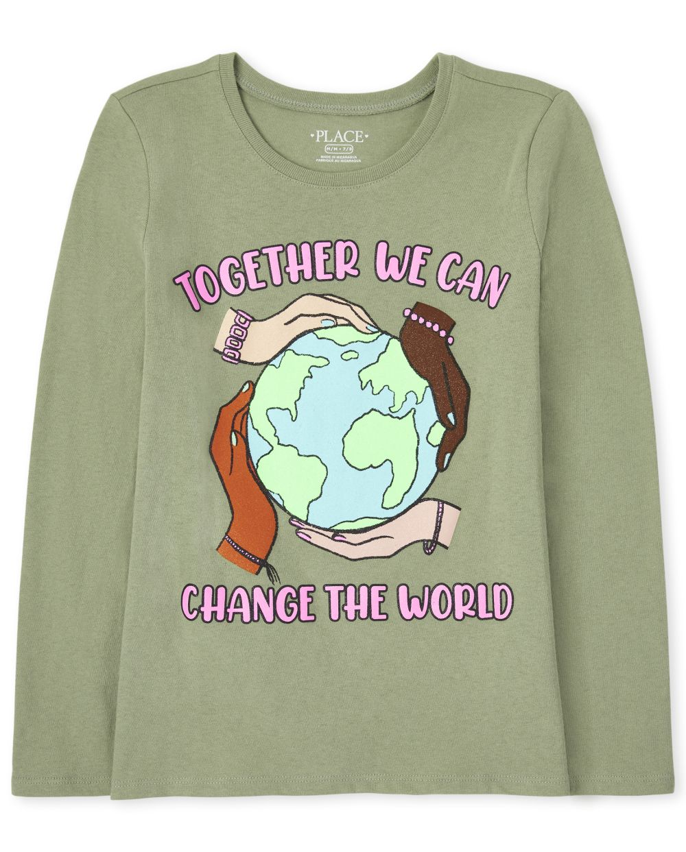 Change The World Graphic Tee - Green T-Shirt