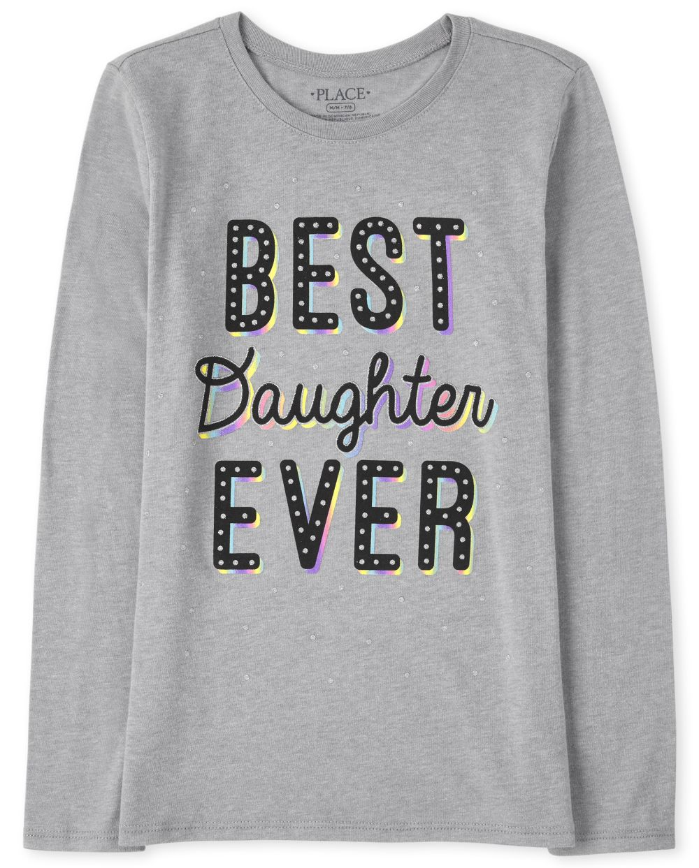 Best Daughter Graphic Tee - Gray T-Shirt