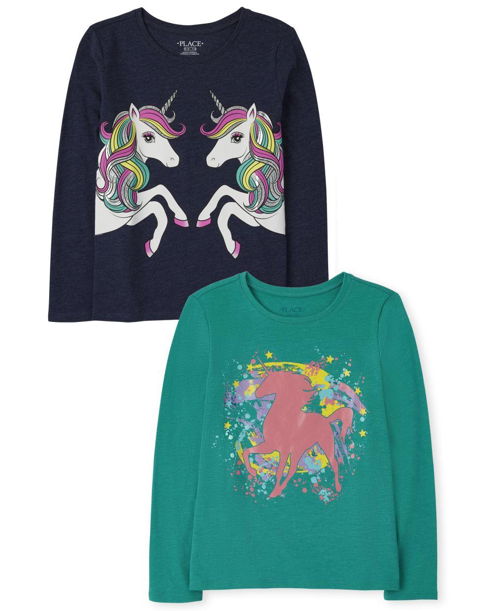 Unicorn Graphic Tee 2-Pack - Multi T-Shirt
