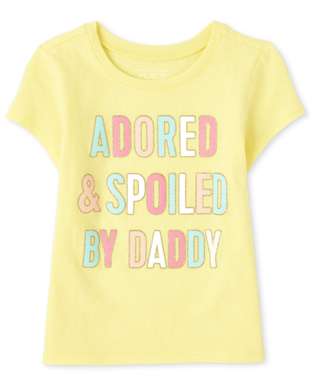 s Baby And Toddler Adored By Daddy Graphic Tee - Yellow T-Shirt - The Children's Place