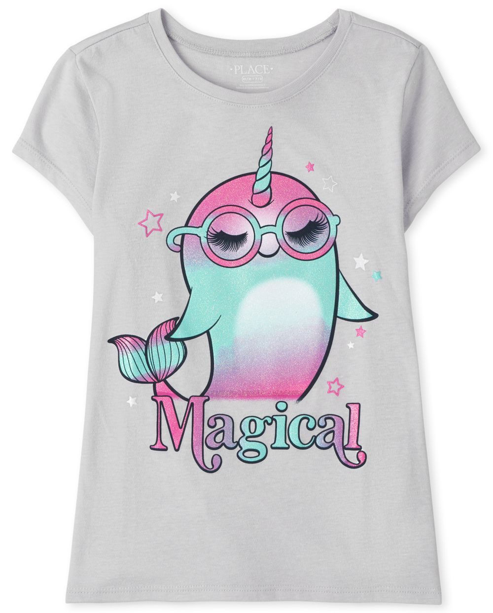 Magical Narwhal Graphic Tee - Blue T-Shirt