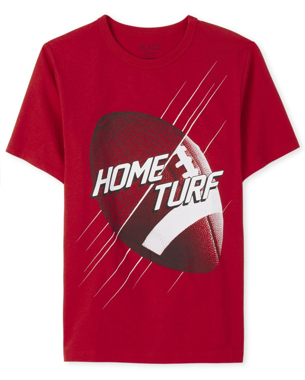 Boys Football Graphic Tee - Red T-Shirt