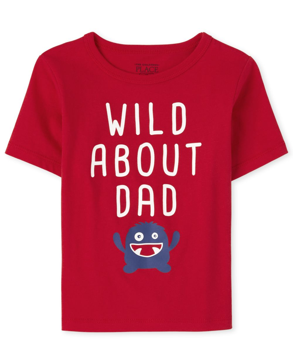 Baby And Toddler Boys Wild About Dad Graphic Tee - Red T-Shirt