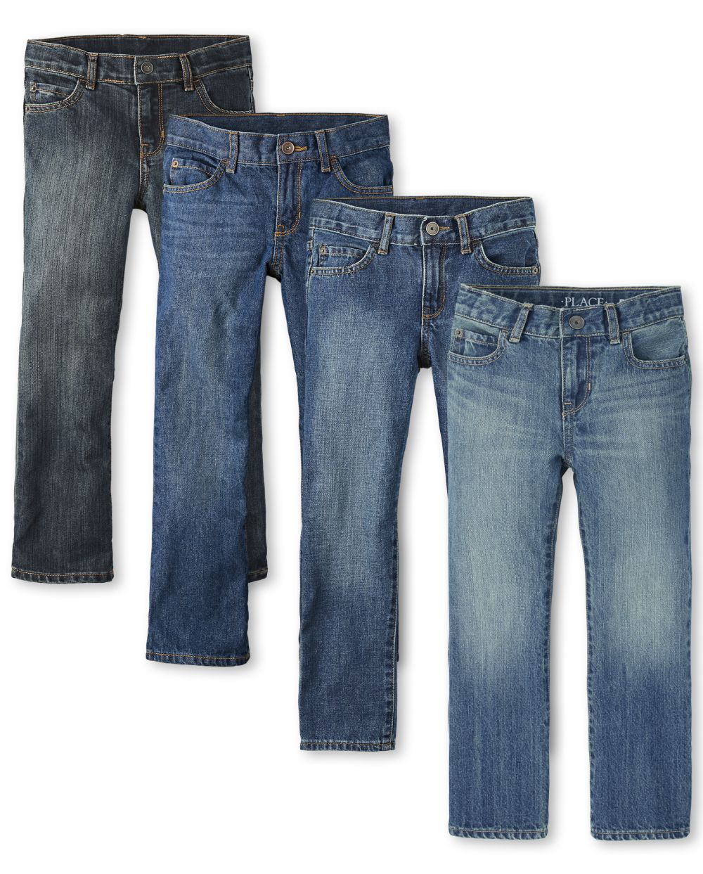 Boys Basic Bootcut Jeans 4-Pack - Multi