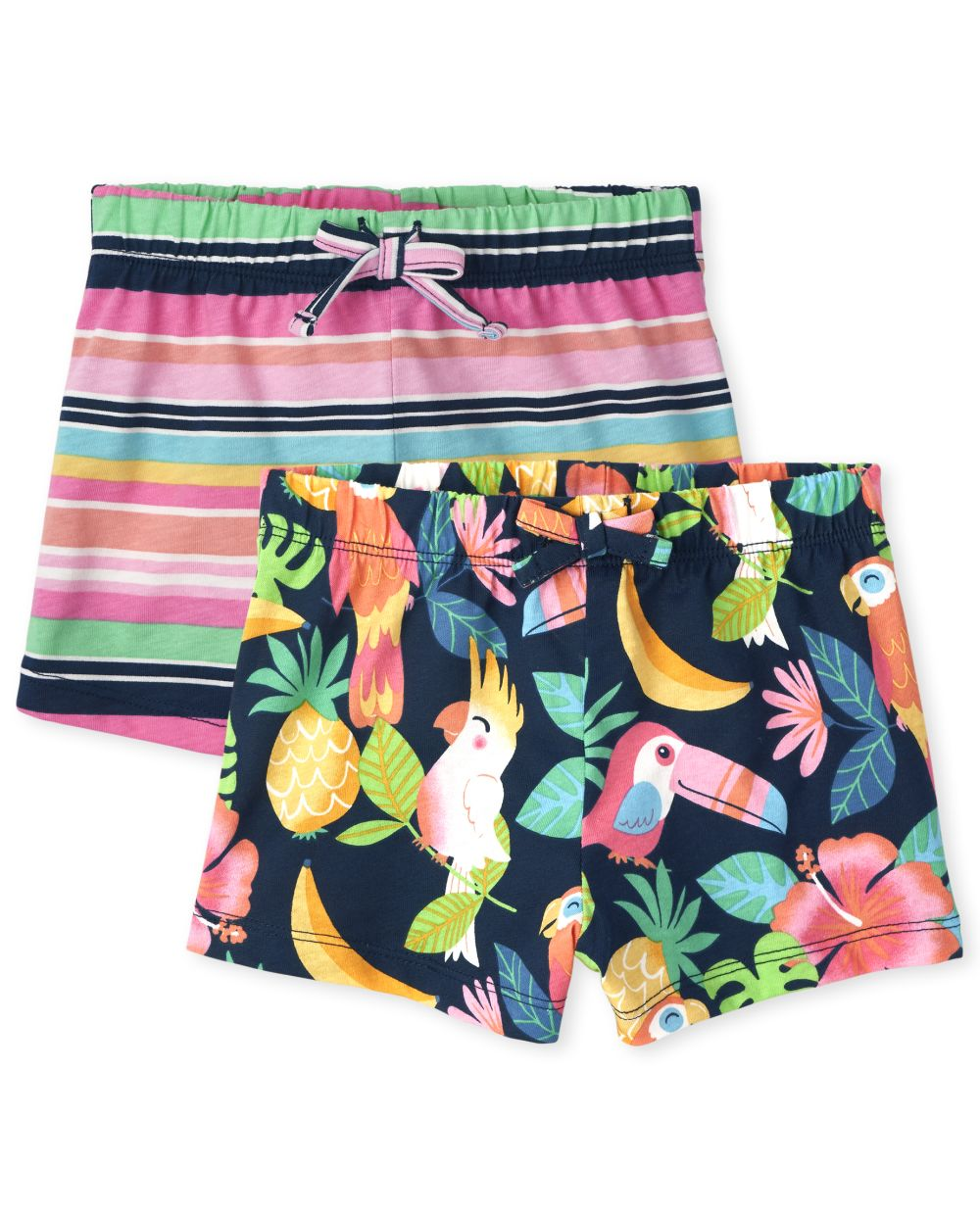 Toddler Tropical Shorts 2-Pack - Blue