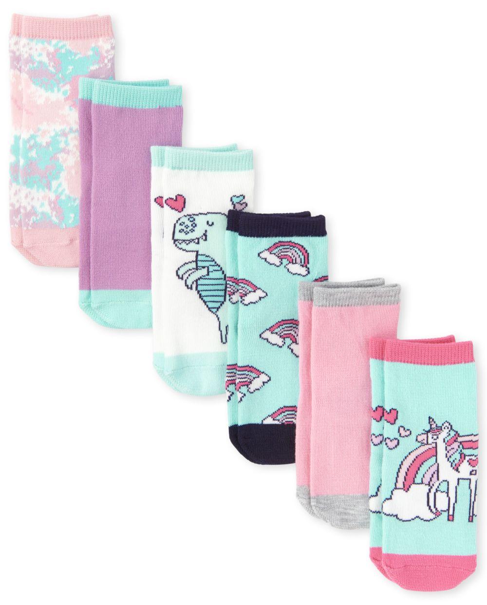 Toddler Rainbow Midi Socks 6-Pack - Multi