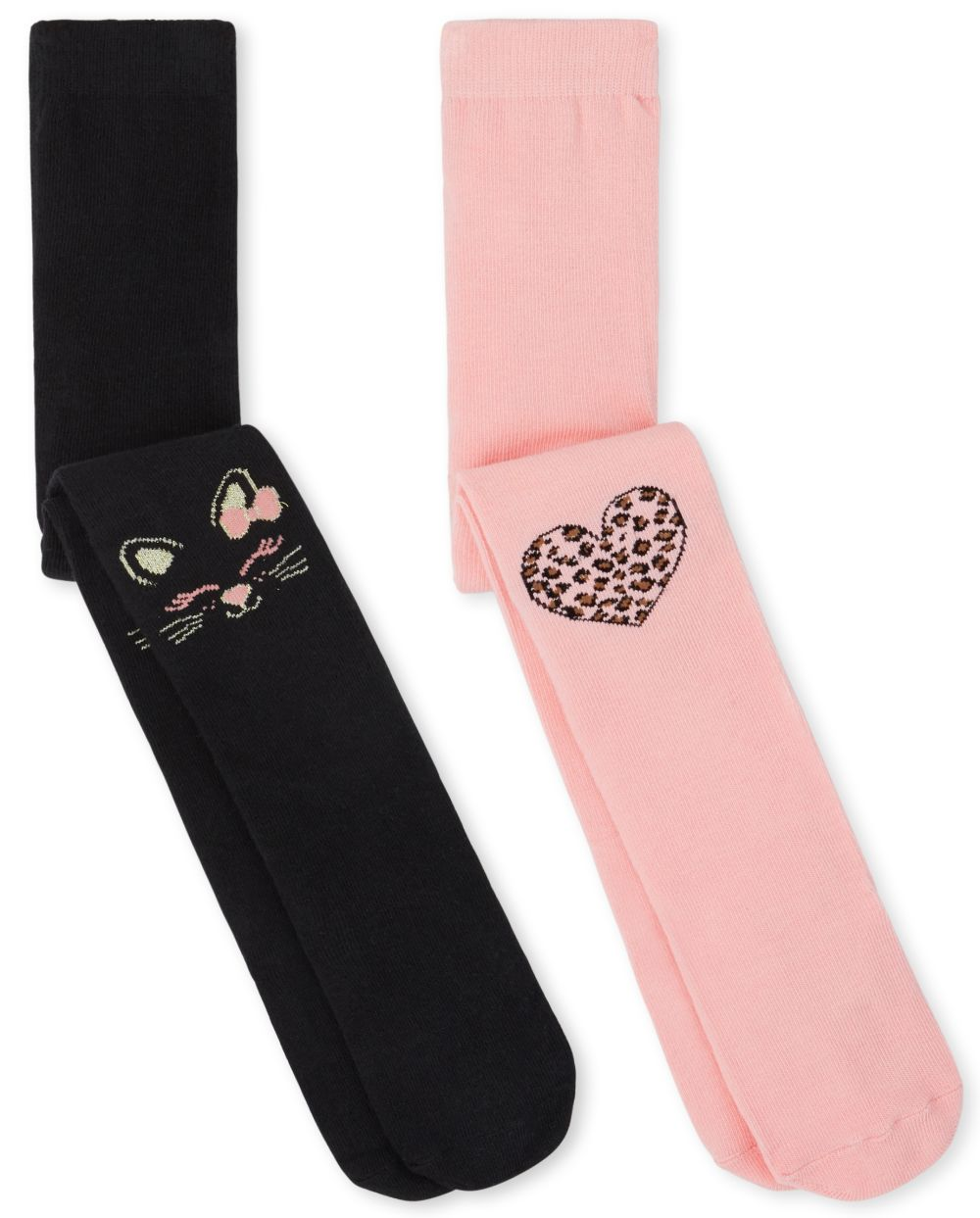 Heart Cat Tights 2-Pack - Multi