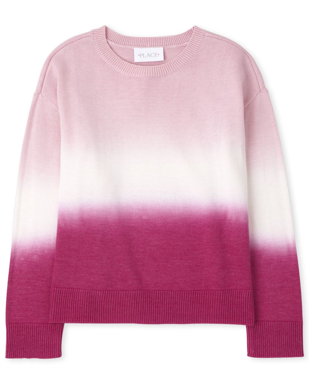 Girls Ombre Sweater - Pink