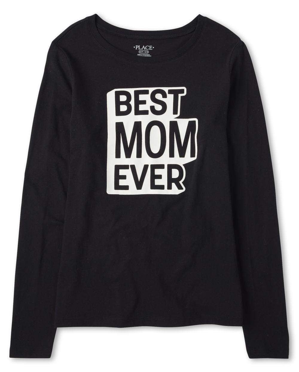 Womens Matching Family Mom Graphic Tee - Black T-Shirt