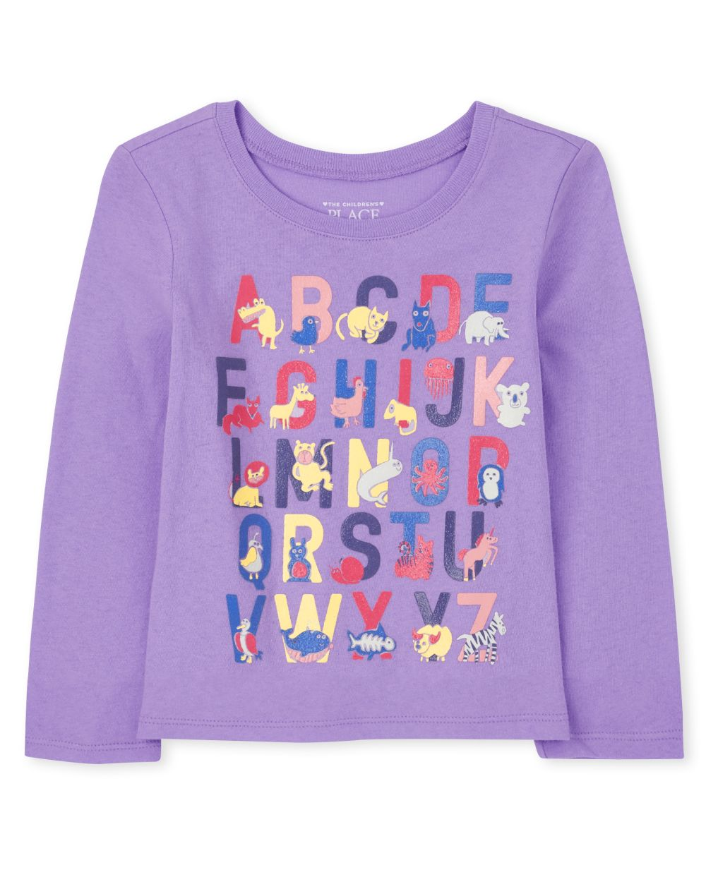 Baby And Toddler Alphabet Graphic Tee - Purple T-Shirt