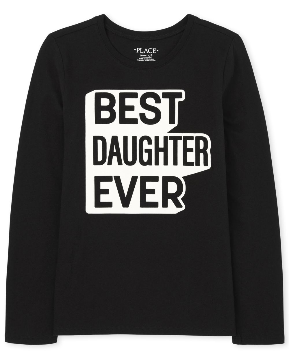 Girls Matching Family Daughter Graphic Tee - Black T-Shirt
