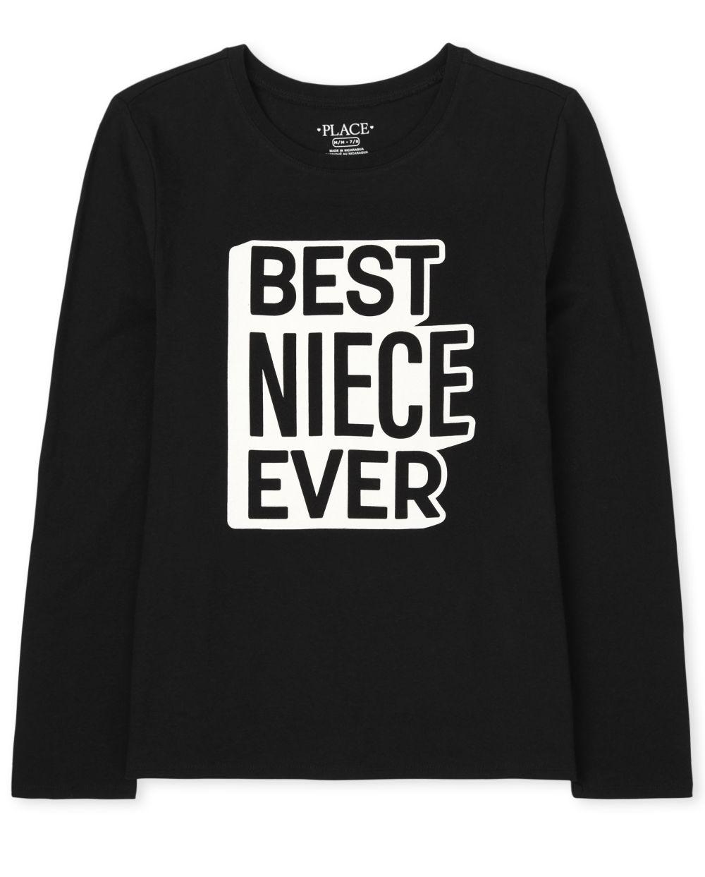 Matching Family Niece Graphic Tee - Black T-Shirt
