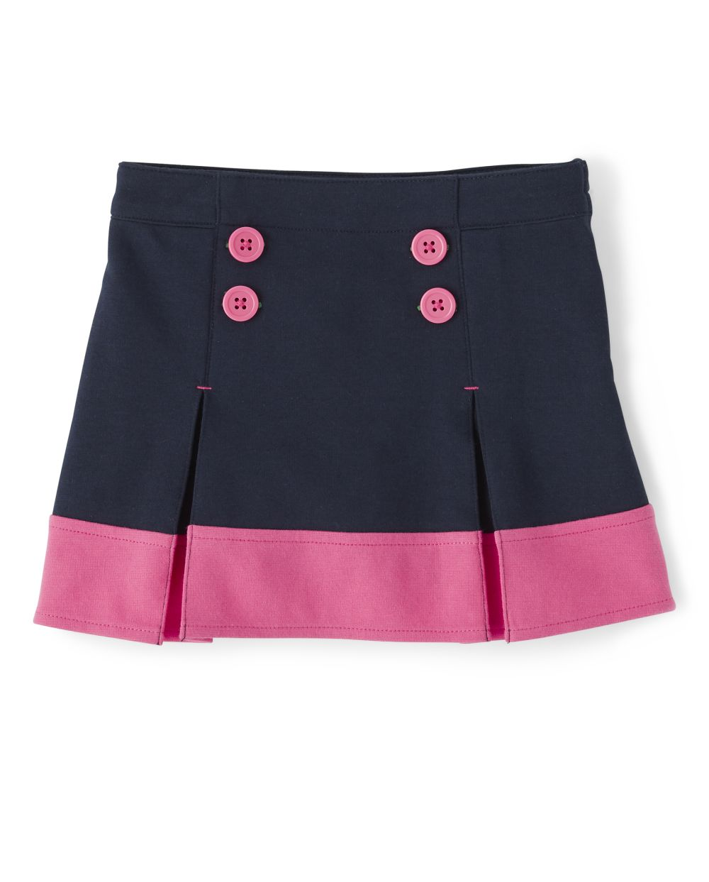 Girls Ponte Skort - Playful Poppies