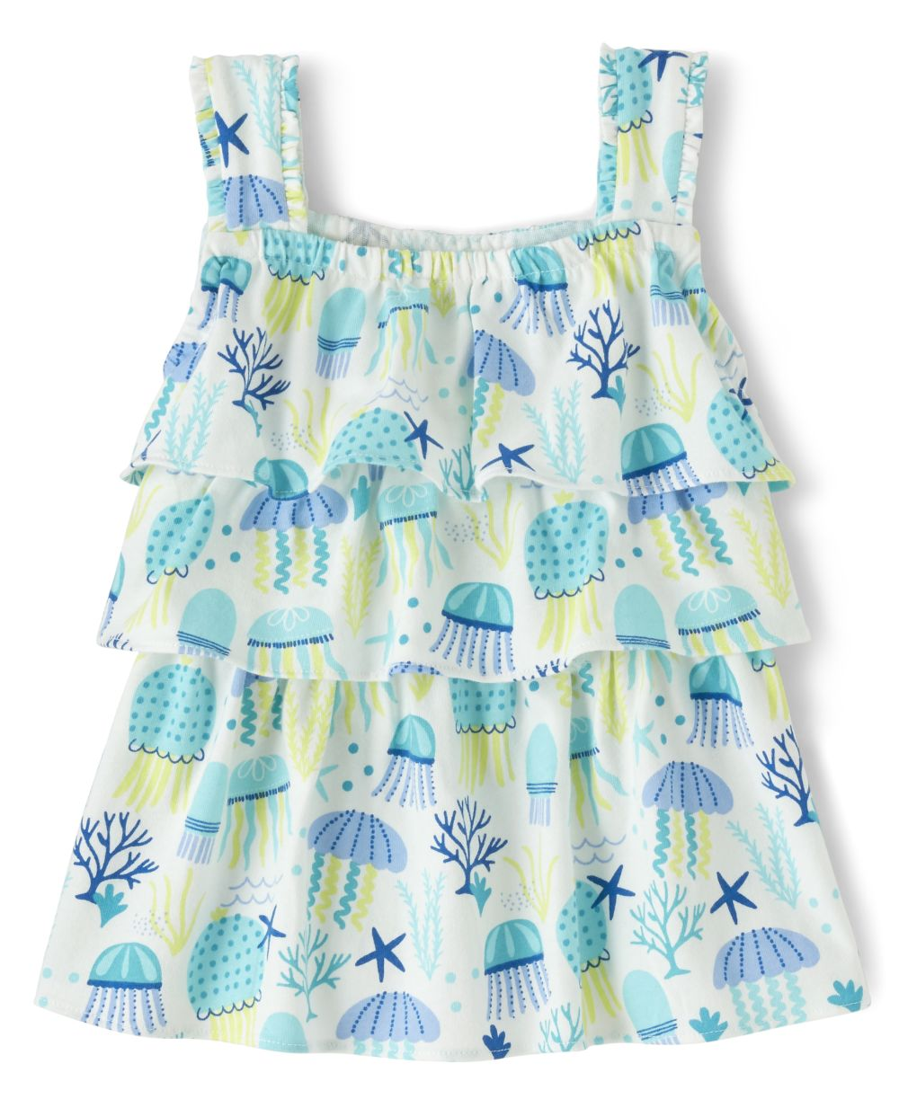 Girls Jellyfish Tiered Top - Under The Sea
