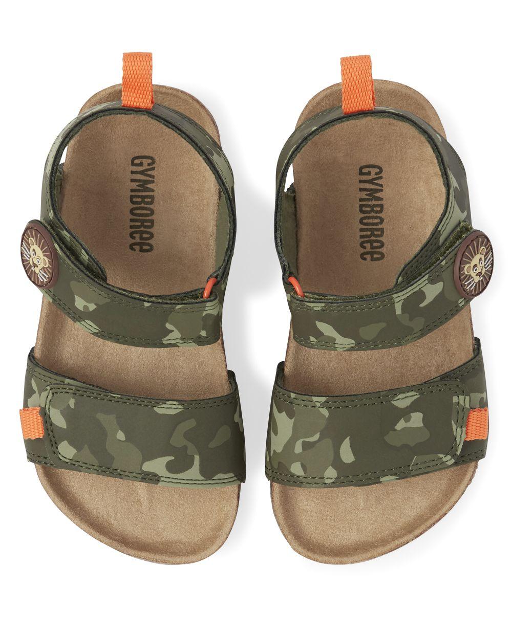 Boys Camo Sandals - Summer Safari