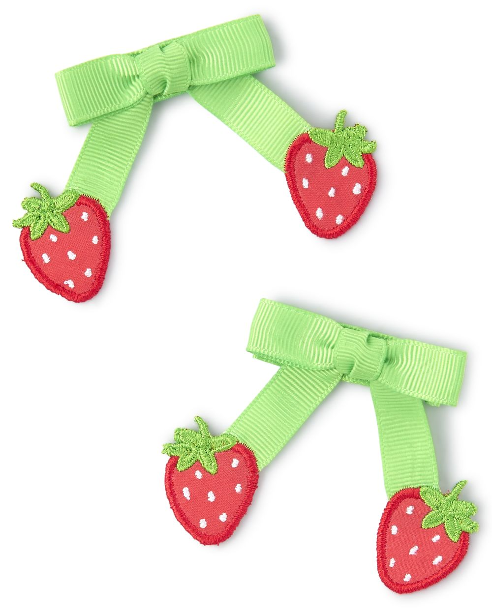 Girls Bow Hair Clips - Strawberry Patch