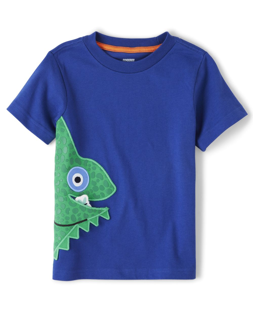 Boys Applique Chameleon Top - Summer Safari