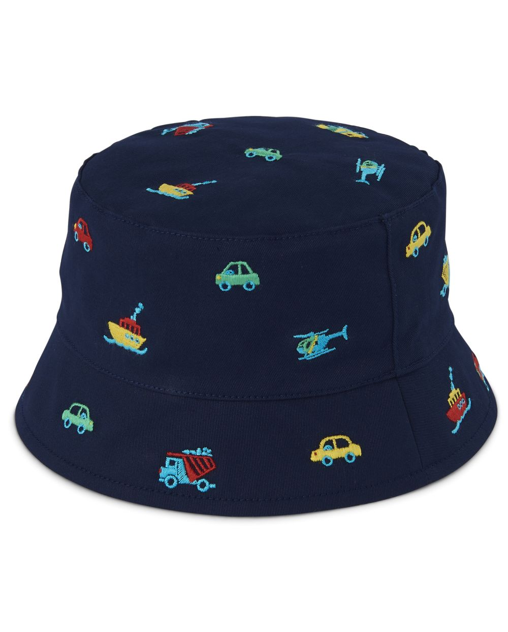 Boys Embroidered Transportation Bucket Hat - Travel Adventure