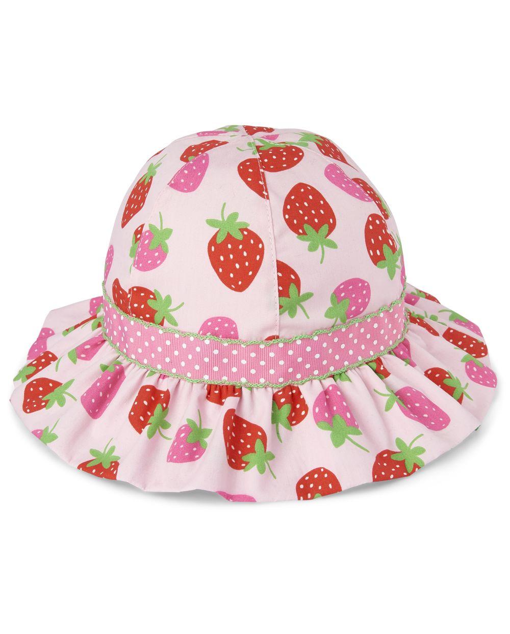 Girls Bucket Hat - Strawberry Patch