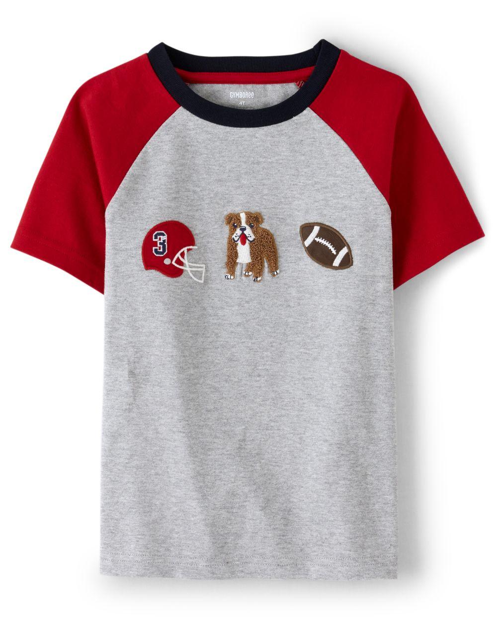 Boys Football Dog Top - Preppy Puppy