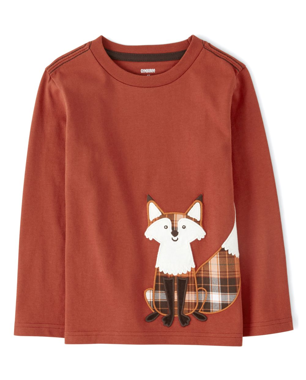 Boys Embroidered Fox Top - Harvest