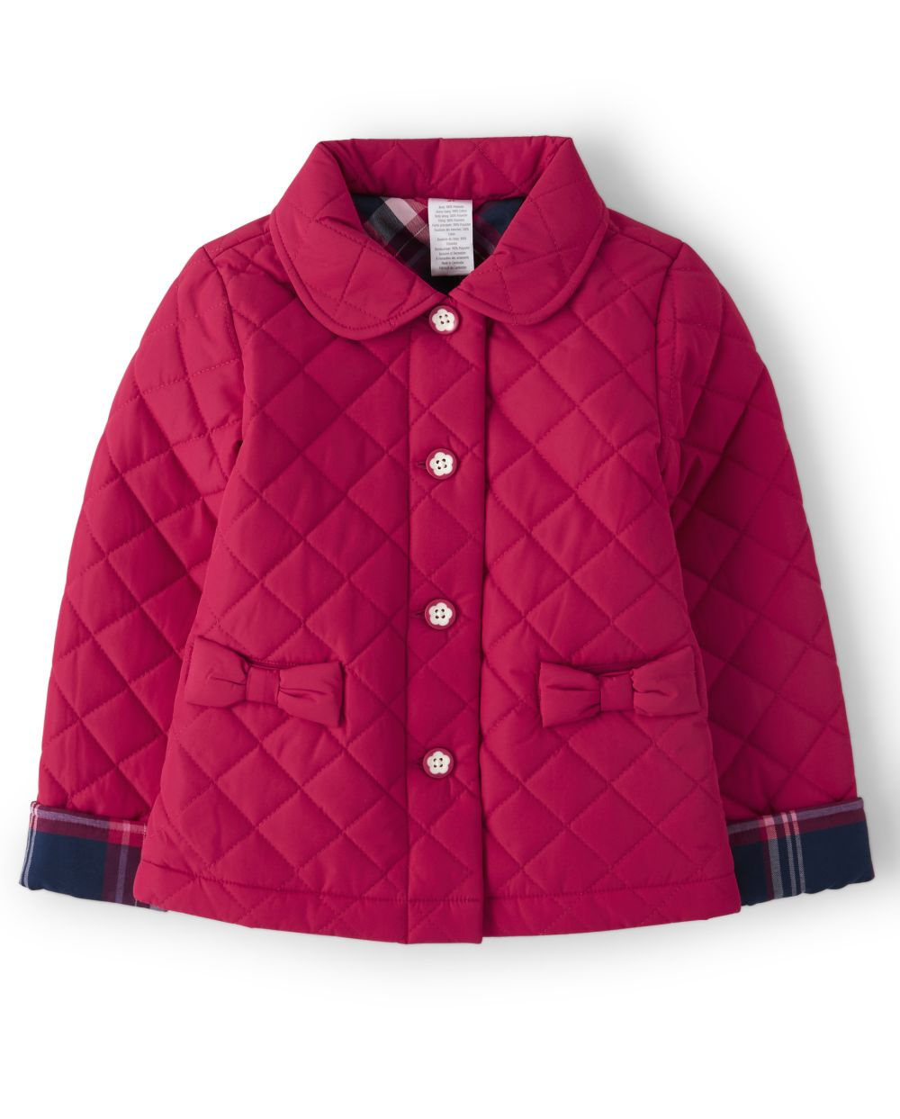 Girls Bow Quilted Jacket - Preppy Puppy