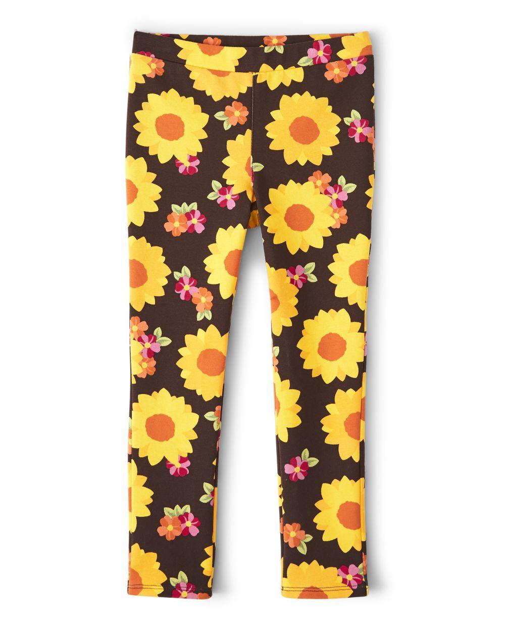 Girls Sunflower Ponte Jeggings - Harvest