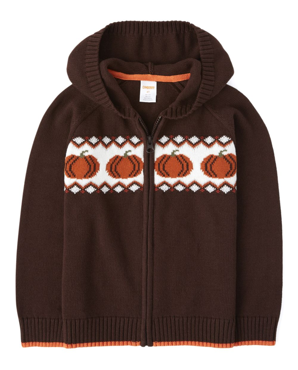 Boys Zip Up Sweater - Harvest