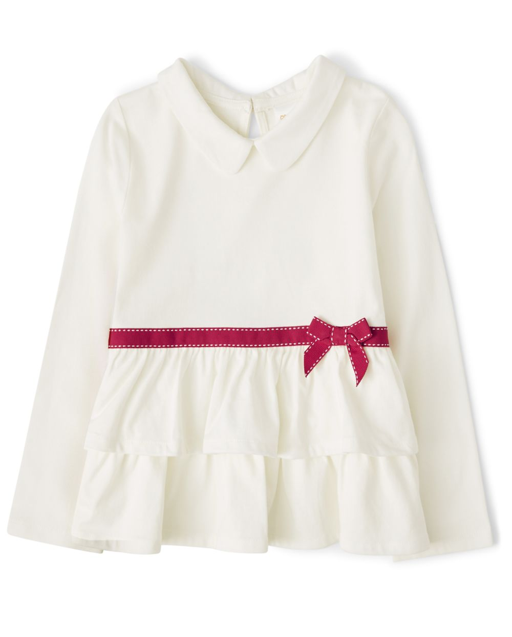 Girls Bow Tiered Top - Preppy Puppy