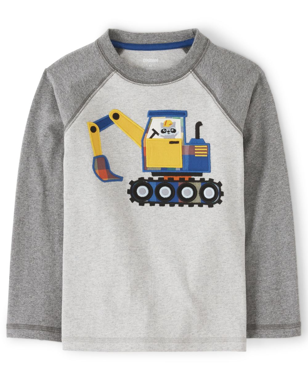 Boys Embroidered Construction Truck Top - Demolition Dude
