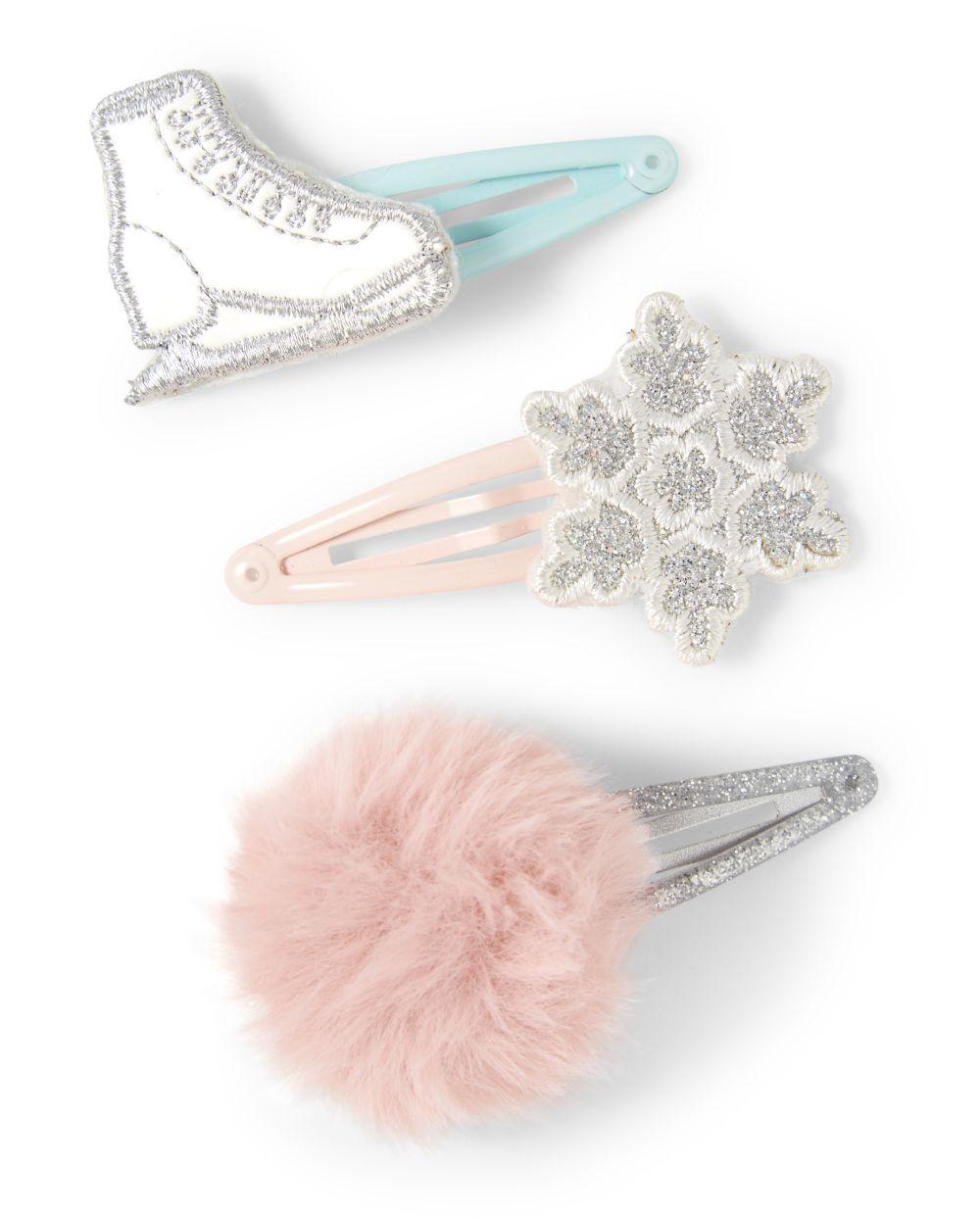 Girls Hair Clips - Snow Princess