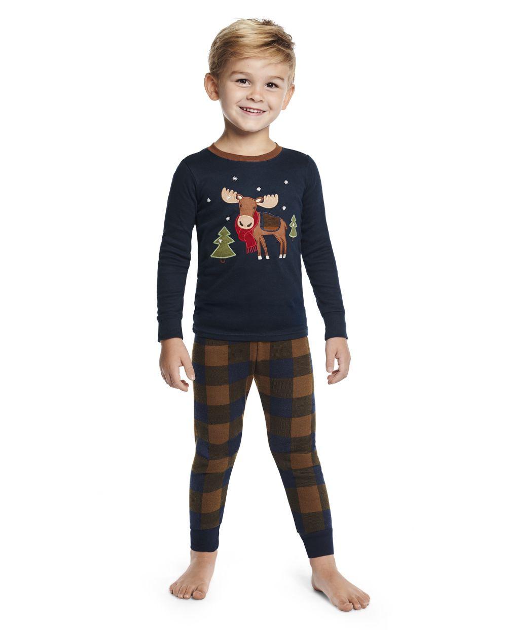 Boys Moose Cotton 2-Piece Pajamas - Gymmies