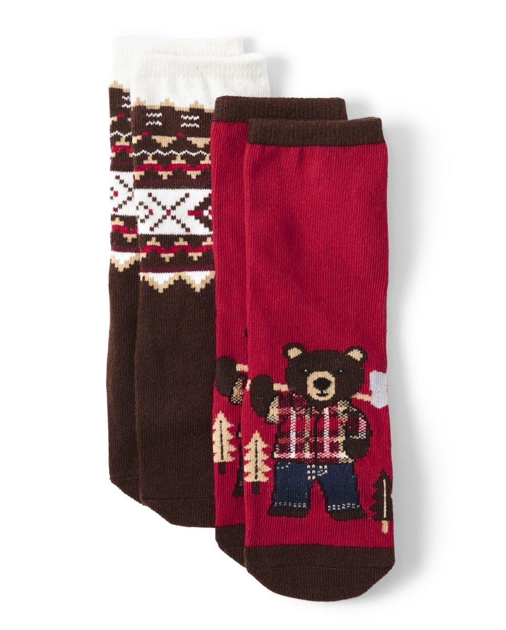 Boys Crew Socks - Moose Mountain