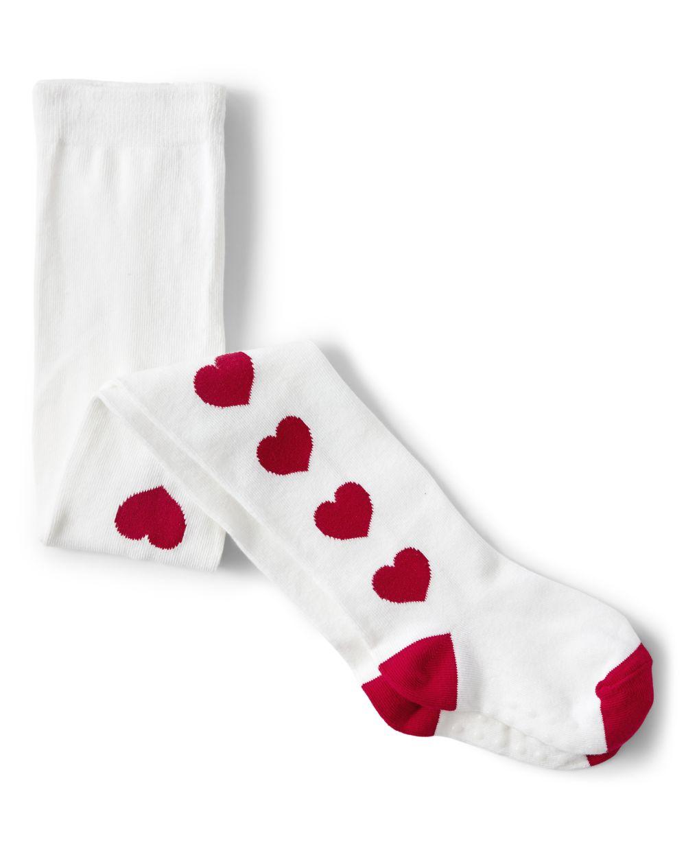 Girls Heart Tights - Valentine Cutie