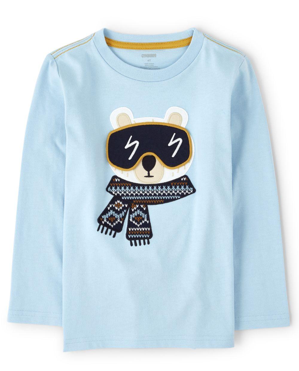 Boys Peek-A-Boo Polar Bear Top - Aspen Lodge
