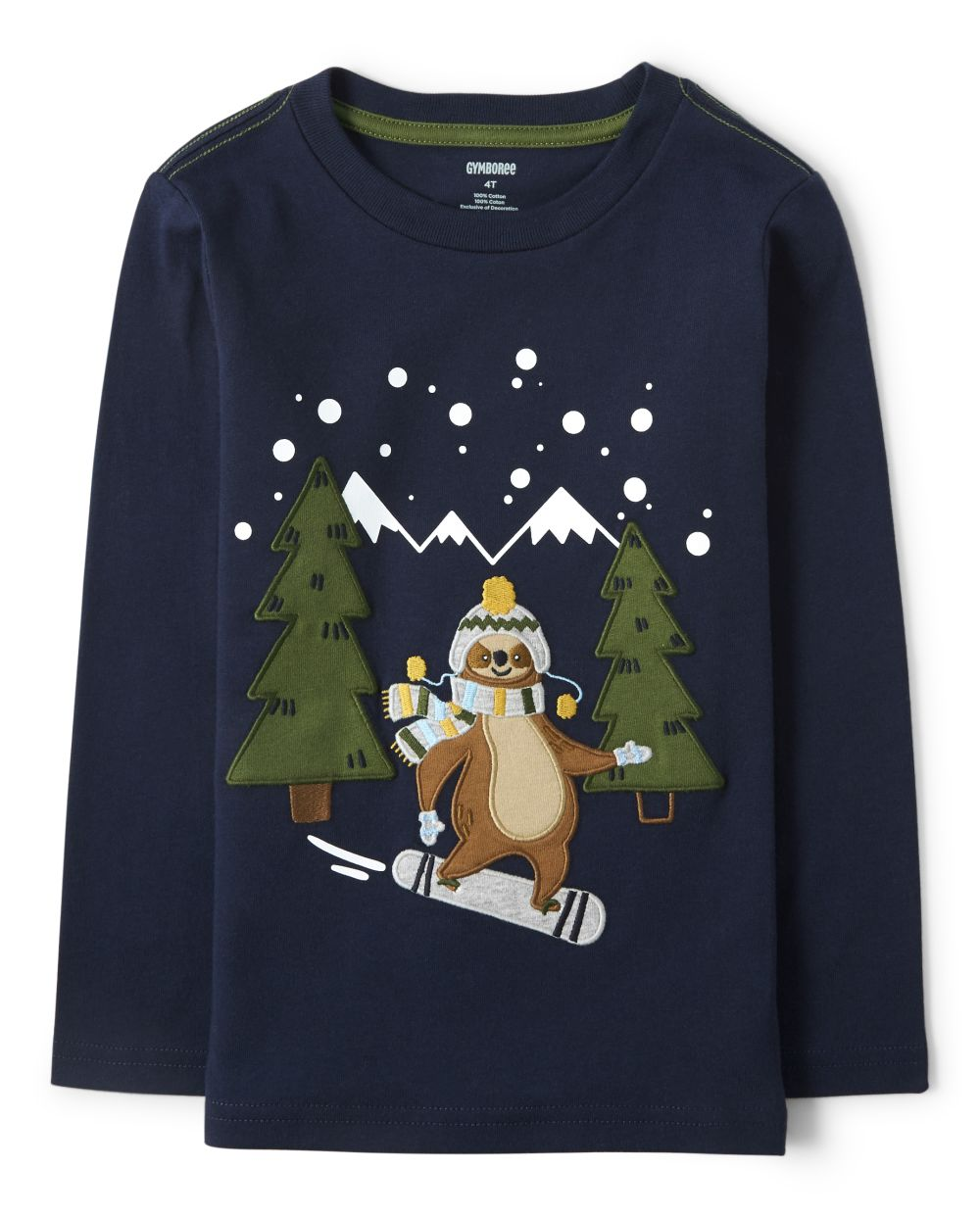 Boys Snowboarding Sloth Top - Aspen Lodge