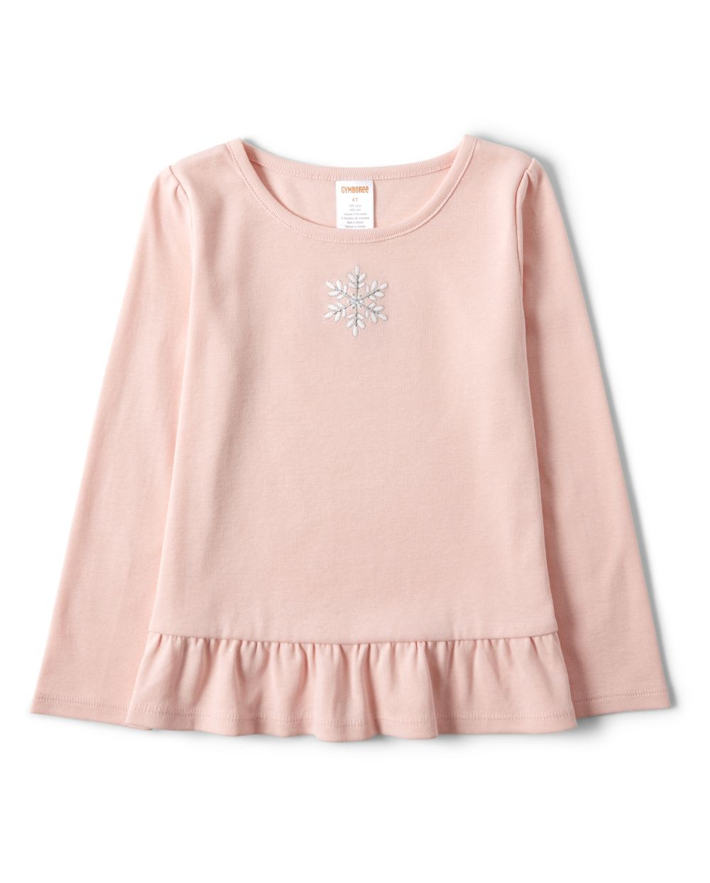 Girls Embroidered Snowflake Peplum Top - Every Day Play