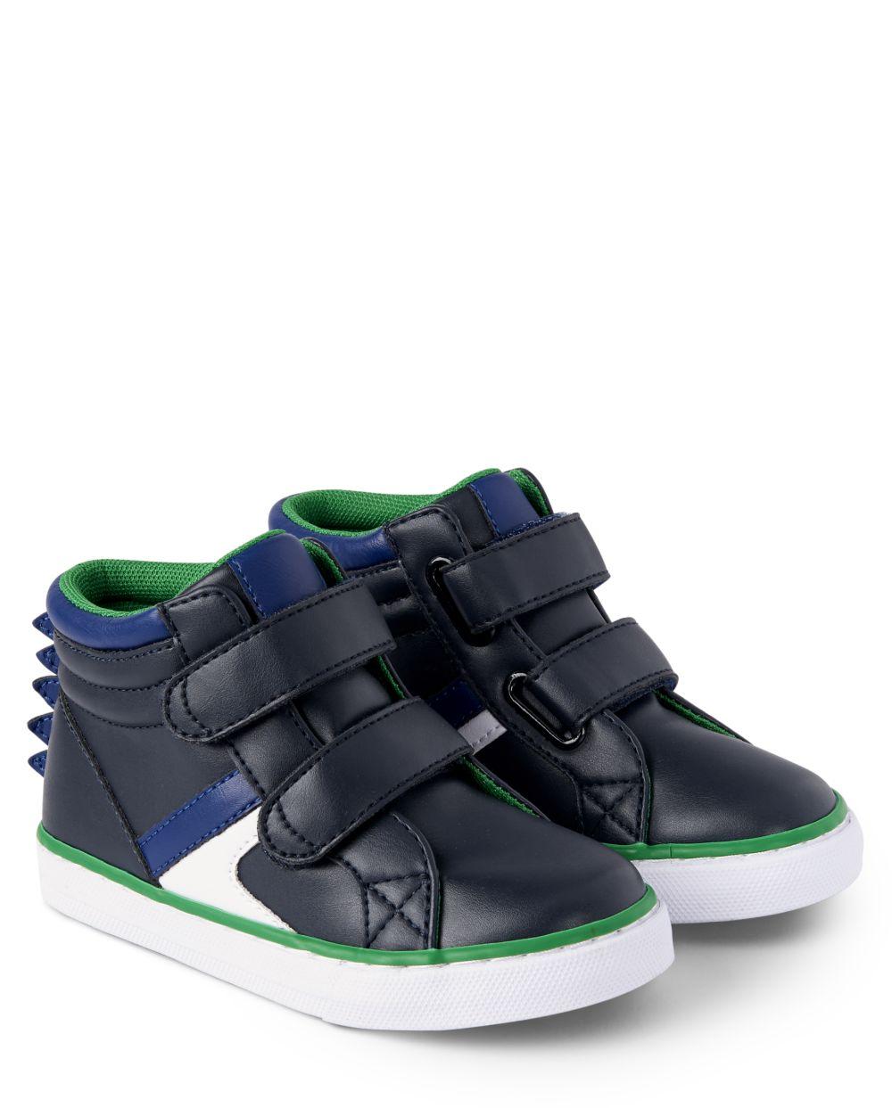 Boys Dino Hi Top Sneakers - Dino Roar
