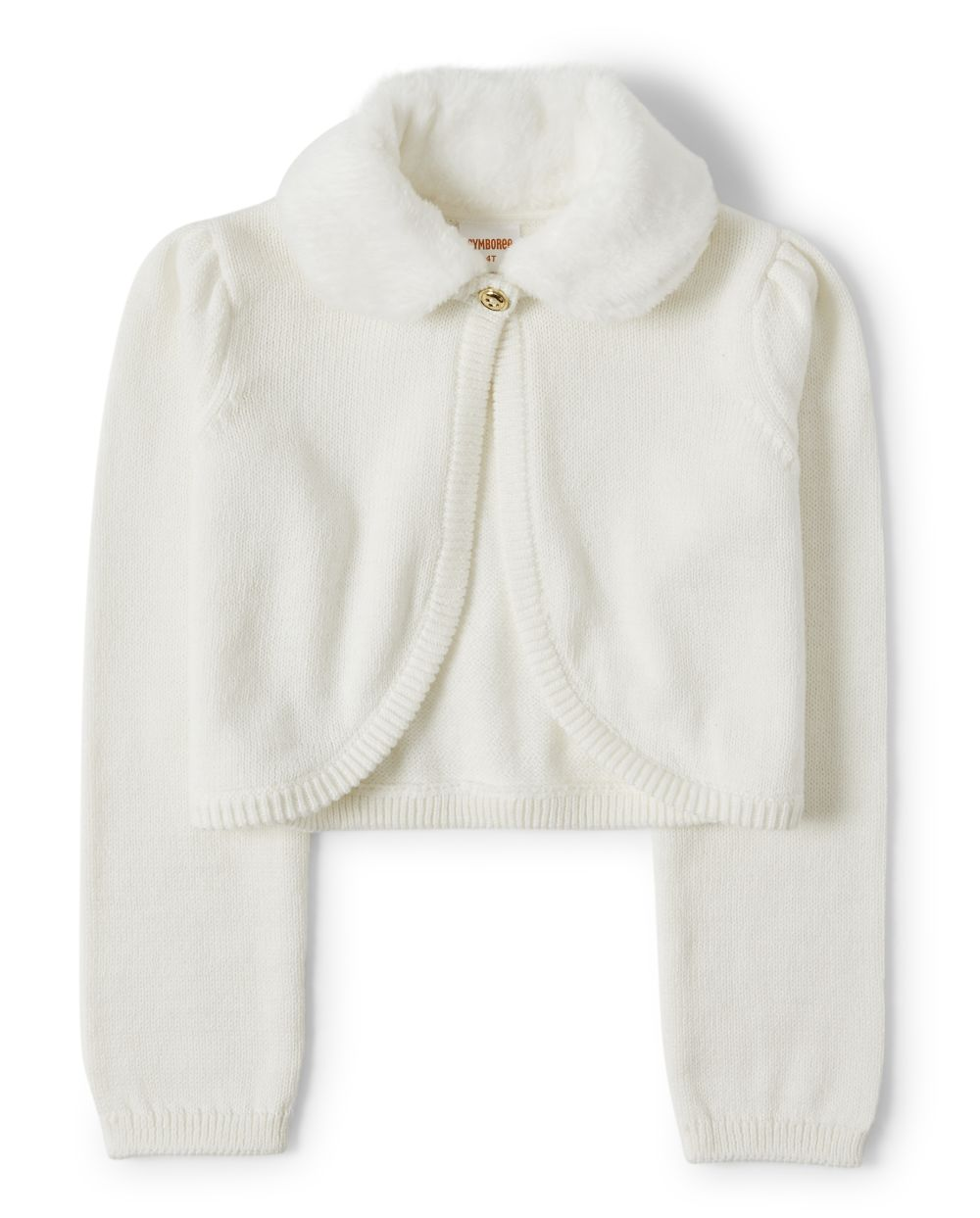 Girls Faux Fur Cropped Cardigan - Picture Perfect