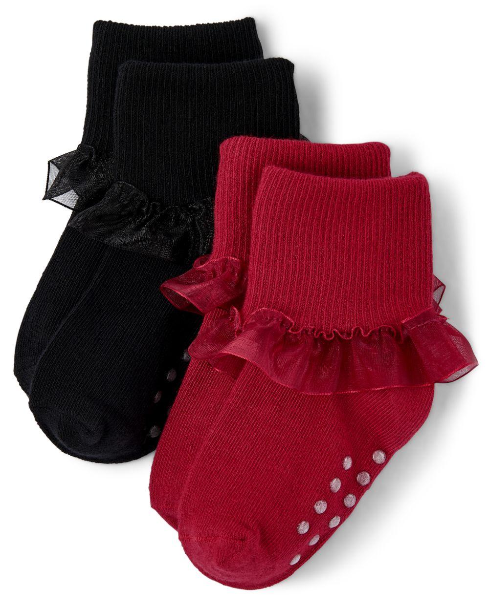 Girls Turn Cuff Socks - Picture Perfect