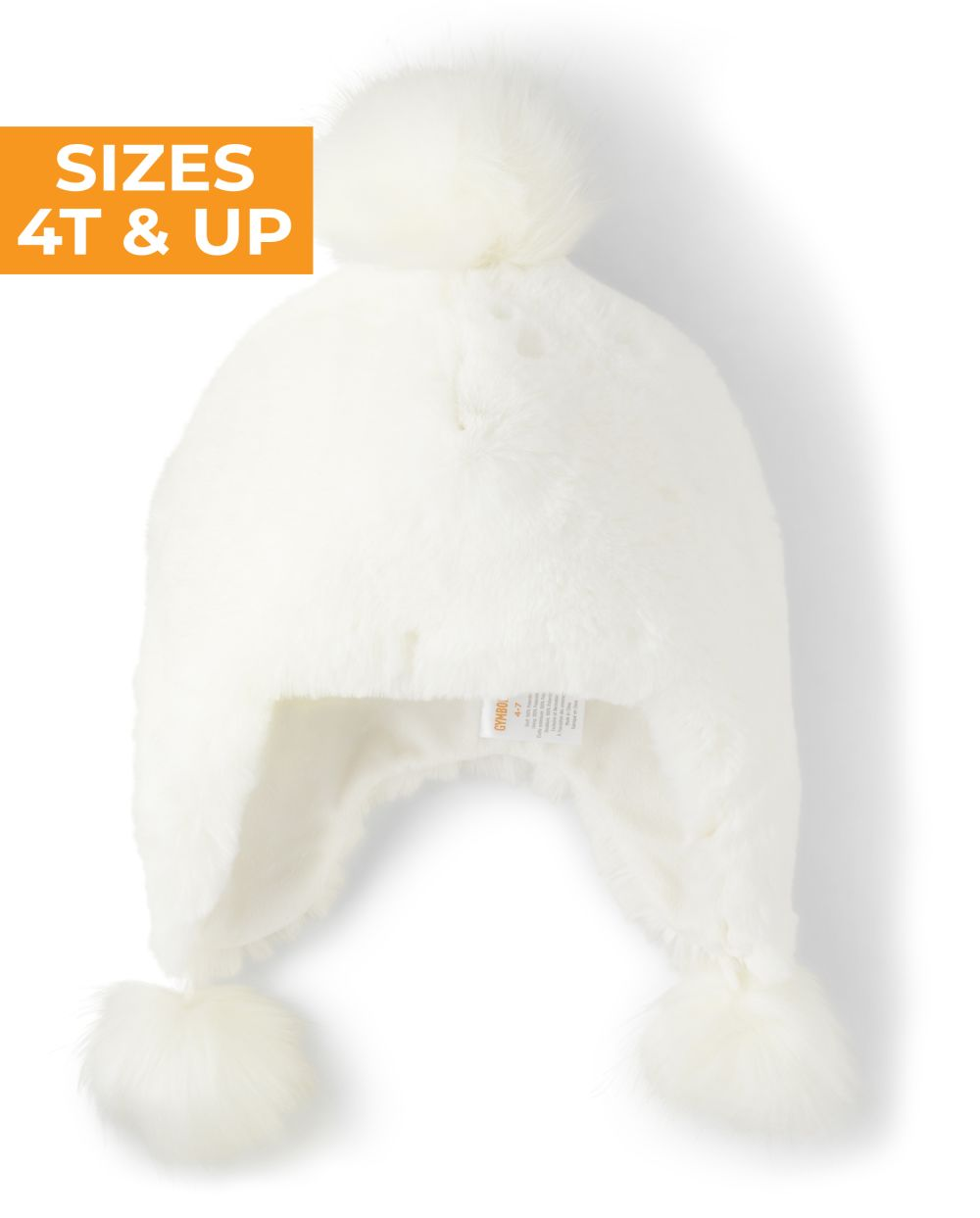 Girls Faux Fur Pom Pom Hat - Snow Princess