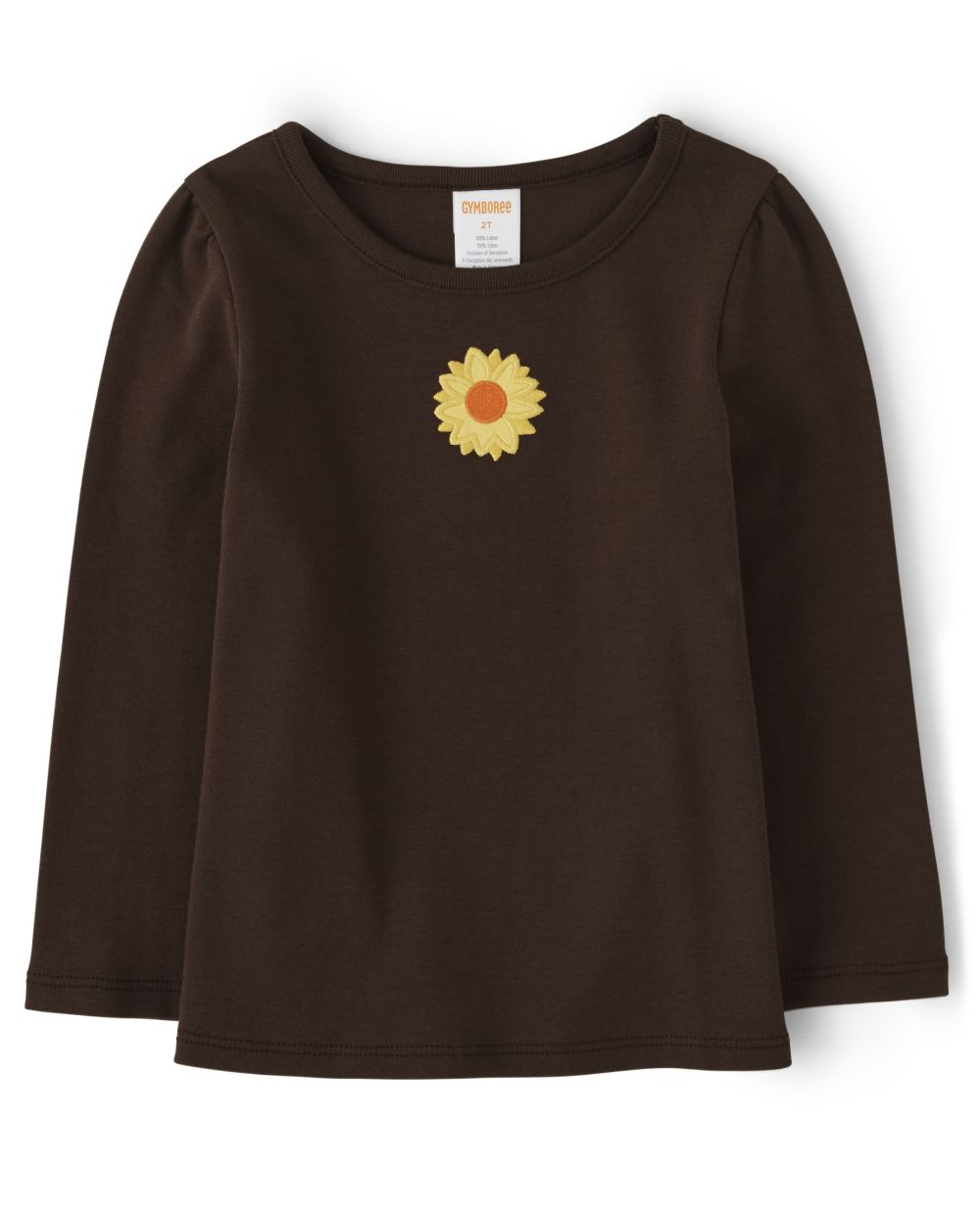 Girls Embroidered Sunflower Top - Every Day Play