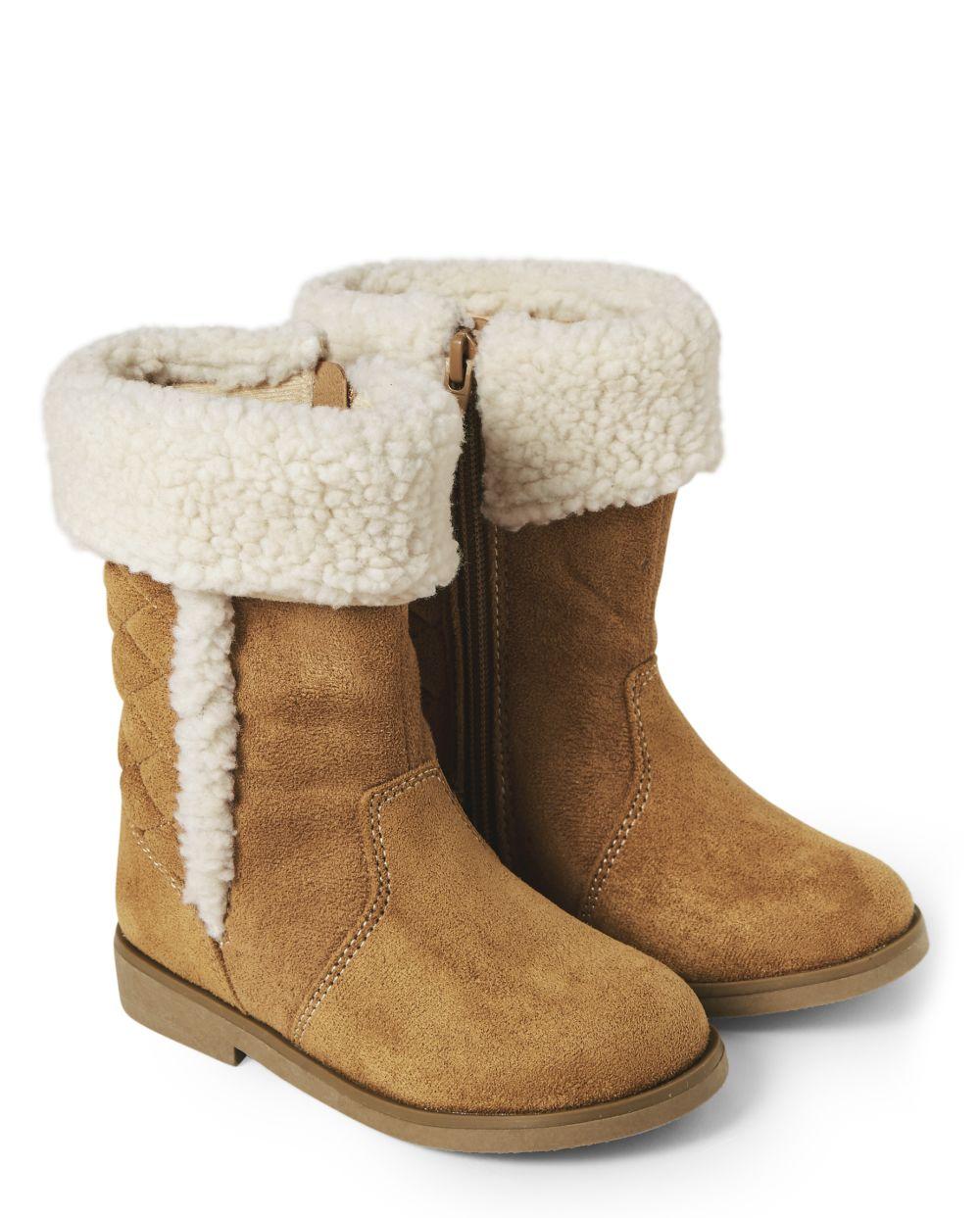 Girls Quilted Tall Boots - Winter Wonderland