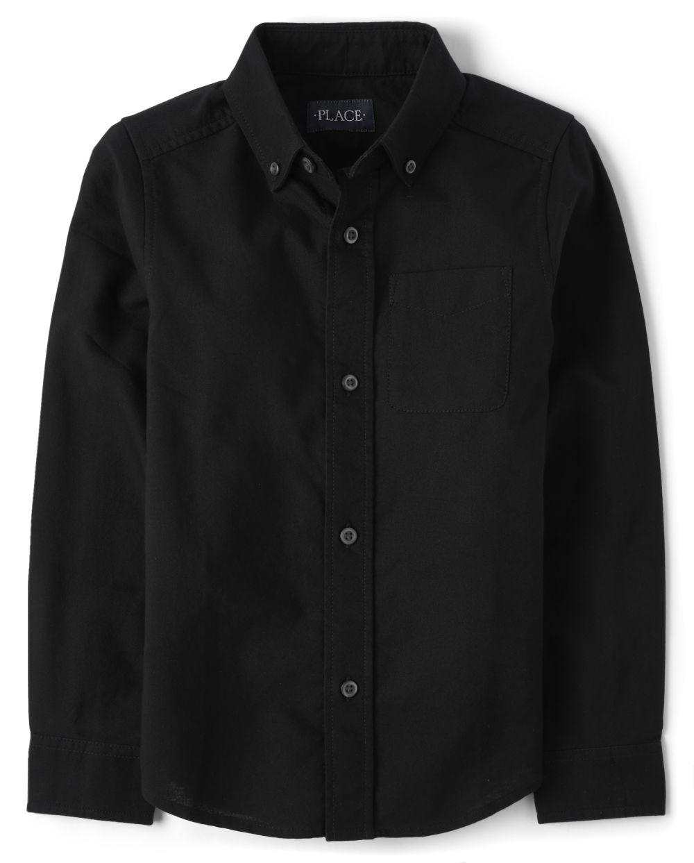 Boys Uniform Oxford Button Down Shirt