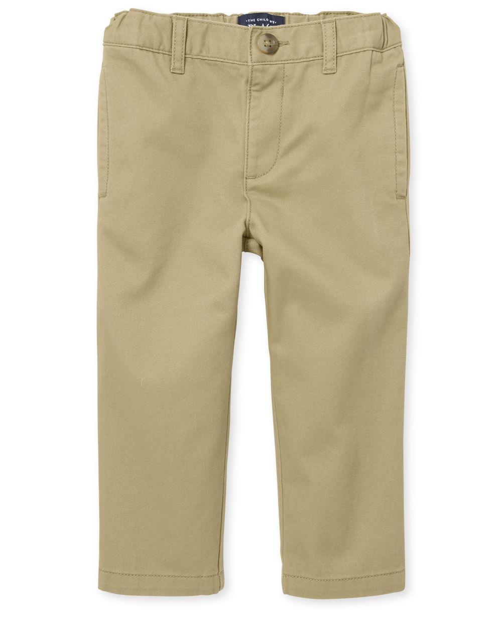 Pantalones chinos de uniforme para bebés y niños pequeños