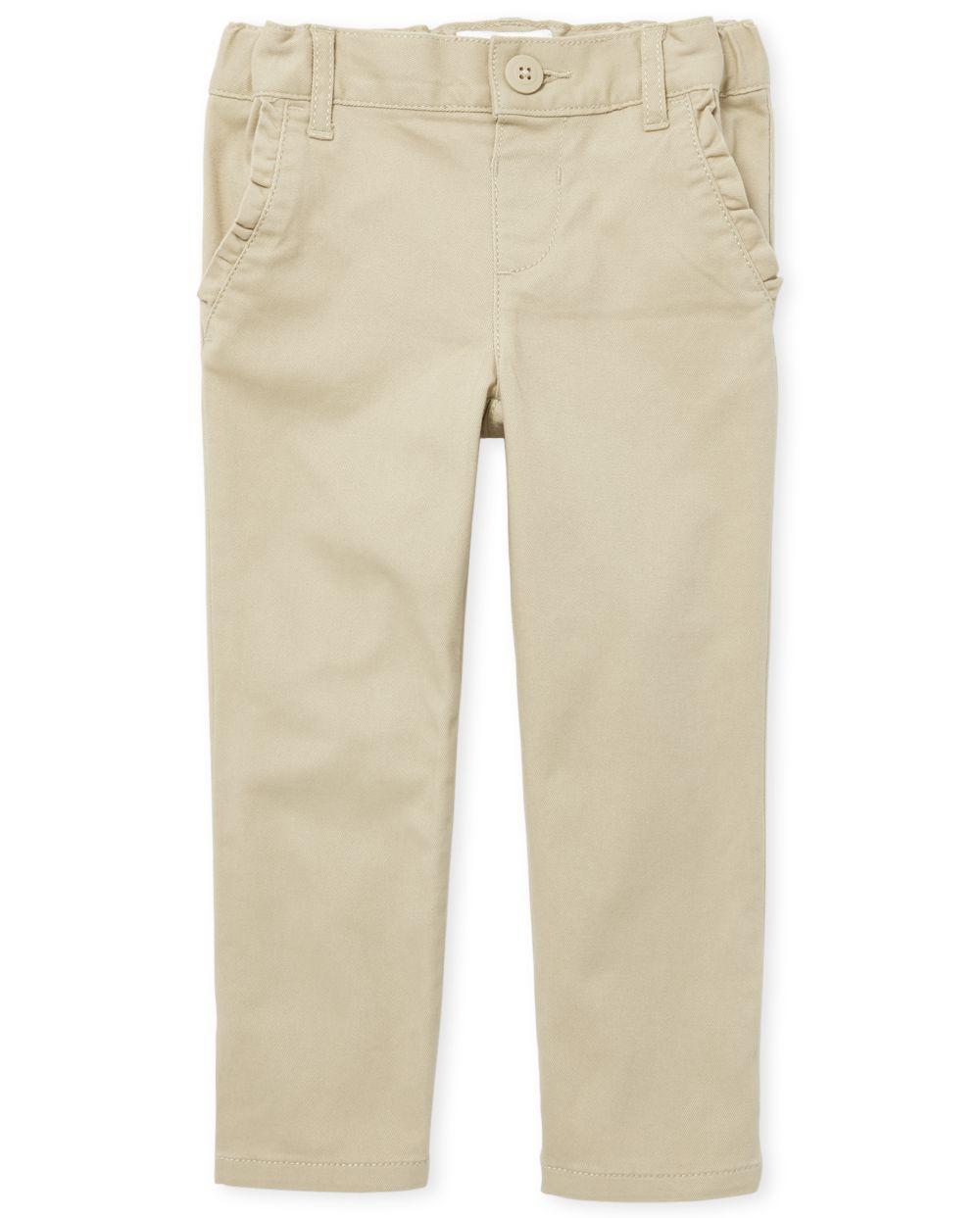 Toddler Girls Uniform Skinny Chino Pants